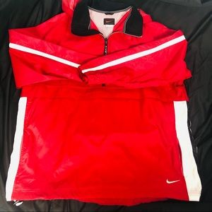 Men's Nike Red Rain Jacket/Pullover.